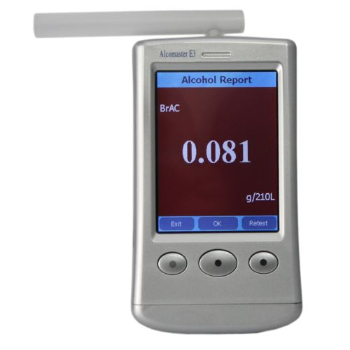 Alcomaster E3 Breathalyzer screen